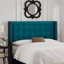 Blue Velvet King Headboard by Beds And Headboards Everything Turquoise