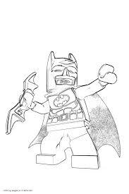 Lego Batman Coloring Sheets Free Pages Printable