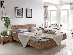 woodkings holzbett bett 180x200 hden doppelbett schlafzimmer massivholz design holz schwebebett naturmöbel echtholzmöbel günstig akazie