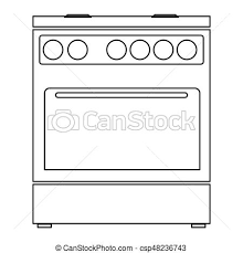 Kitchen Stove The Black Color Icon