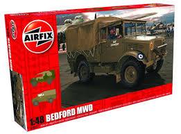 100 Plastic Truck Model Kits Bedford MWD Light 148 Kit 148th