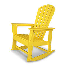 Polywood Seashell Adirondack Rocking Chair by 18 Polywood Rocking Chairs White Allen Roth Lawley