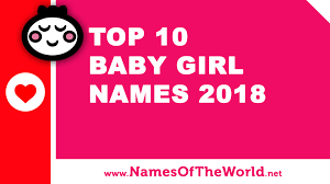 Top 10 Baby Girl Names 2018 The Best Baby Names Www