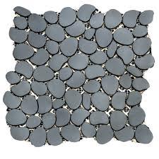 Sliced Pebble Tile Canada by Solistone Metal Mosaics Metal Mesh Mounted Mosaic