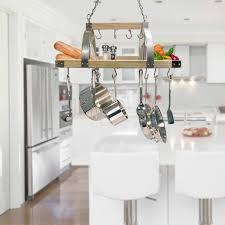 17 stories 2 light kitchen wood pot rack reviews wayfair