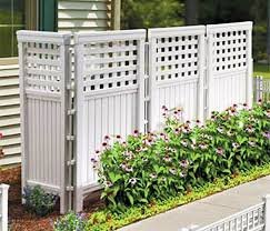 Patio Mate 10 Panel Screen Enclosure by Amazon Com Made In Usa White Uv Resistant 4 Panel Resin Outdoor