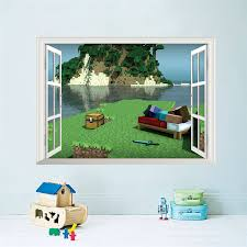 Hot 3D Cartoon Boys Game Home Decor Wall Stickers Kids Room Bedroom Decorative Wallpaper Art Children Diy Birthday Gift Decals In From