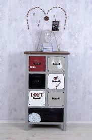 vintage schrank kommode loft stil shabby chic optik