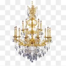 Chandelier Gorgeous Continental Crystal PNG Image And Clipart