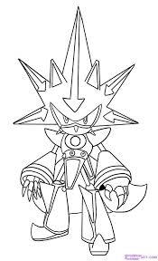 Sonic The Hedgehog Colouring Pages To Print Coloring Printable Draw Metal Step