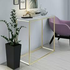 standregal modern gold matt 100cm wohnzimmer regal flur