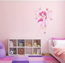 volle farbe rosa fee schmetterlinge mädchen schlafzimmer kinderzimmer wandsticker aufkleber kinder schlafzimmer d adr rosa large