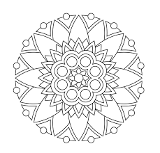 Mandala Coloring Pages 22 Printable Abstract Colouring For Meditation To Print