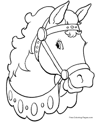 Horse Coloring Pages Circus Face Closeup