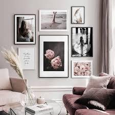 feminine motive nordic poster blumen leinwand malerei zitat wand kunst bilder für wohnzimmer moderne home dekorative drucke