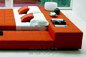 Squaring Penisola Low Profile Bed by Bonaldo