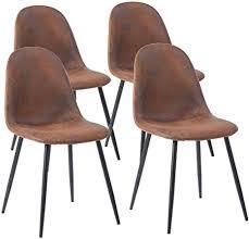 meuble cosy charlton suede brown sy esszimmerstühle 4er set küchenstühle wohnzimmerstühl bürostuhl ergonomisch leder metallbeine stoff schwarz