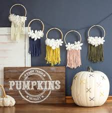 Norms Pumpkin Patch 2015 by The Craft Patch Diy Fall Decorations Mini Embroidery Hoop Banner
