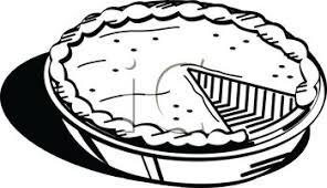 Pie pumpkin flower clip art black and white