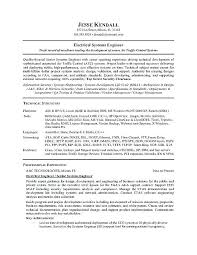 Sample Resume For Software Engineer Free