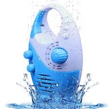wasserdichtes duschradio spritzwassergeschütztes am fm radio mit integriertem lautsprecher und einstellbarer lautstärke für das badezimmer