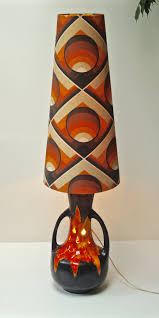 Tension Pole Lamp Shades by West German Fat Lava Floor Lamp Original Shade 60s 70s Mid Century