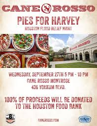 Pumpkin Patch Restaurant Houston Tx by Cane Rosso Montrose Hosts 100 Hump Day For Harvey Relief