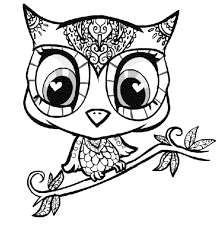 Cute Owl Coloring Pages Printable Free Archives Throughout To Print
