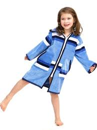 Luxe Kids Swim Coverup In Blue Pool Beach And Class Ready