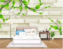 3d Customized Wallpaper Home Decoration 3D Green Vines Background Wall Painting Wallpapers For Living Room