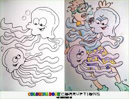 Coloring Book Corruptions Jellyfish