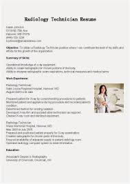 Rad Tech Resume Template New 16 Collection Radiologic Technologist