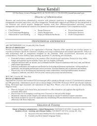 Public Administration Resume Top Administrator Example Of Spectacular