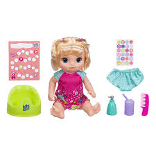 Baby Alive Potty Dance Baby Blonde Straight Hair The Entertainer
