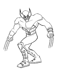 X Men Coloring Pages Free Printable For Kids