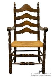 ETHAN ALLEN Antiqued Pine Old Tavern Ladderback Dining Arm Chair W. Rush  Seat 6 Ladder Back Chairs In Great Boughton For 9000 Sale Birch Ladder Back Rush Seated Rocking Chair Antiques Atlas Childs Highchair Ladderback Childs Highchair Machine Age New Englands Largest Selection Of Mid20th French Country Style Seat Side By Hickory Amina Arm Weathered Oak Lot 67 Set Of Eight Lancashire Ladderback Chairs Jonathan Charles Ding Room Dark With Qj494218sctdo Walter E Smithe Fniture Design A 19th Century Walnut High Chair With A Stickley Rush Weave Cape Ann Vintage Green Painted