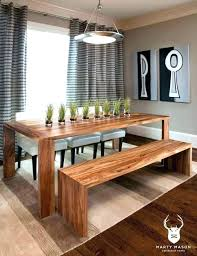Diy Dining Bench With Back Room Table
