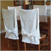 How To Make Dining Room Chair Covers Fresh No Sew Back Slipcover From In My