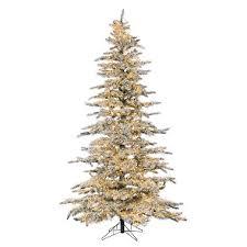 75 Micro LED Pre Lit Flocked Wyoming Snow Pine Christmas Tree