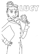 Lucy Coloring Book To Print Gru Printable Picture