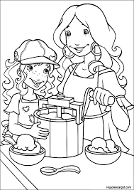 cuisine de maman coloriage hobbie maman cuisine sur hugolescargot com