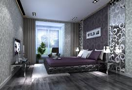 Purple Teal And Gray Bedroom Home Design New Contemporary At