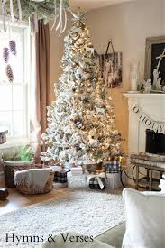 Walmart Flocked Christmas Trees by 2013 Christmas Home Tour Hymns And Verses