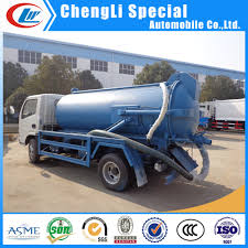 China 5ton Sewer Suction Scavenger Tank 5000L Septic Tank Truck For ...