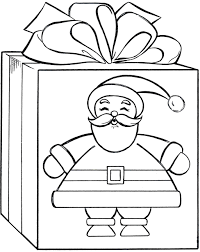 Christmas Present Coloring Pages Page Gift Archives Best Images