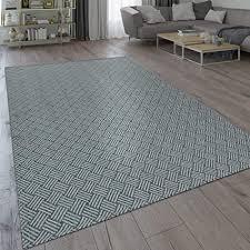 paco home teppich wohnzimmer esszimmer küche flecht web muster modern grau grösse 60x100 cm