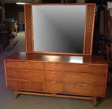 vintage lane perception walnut mid century modern dresser w mirror