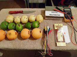 science fair project citrus fruit lemon lime orange light