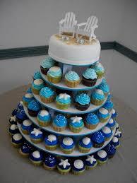 Beach Cupcake Wedding Cakes