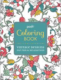 Flip Through Posh Vintage Designs Coloring Book By Michael OMara Books